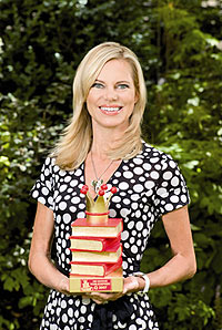 TV-Moderatorin Nina Ruge unterstützt den Deutschen Vorlesepreis