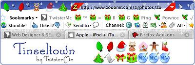 fröhliche Weihnachten mit Firefox