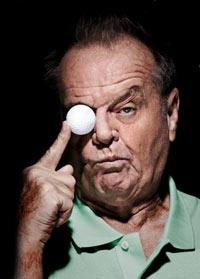 Jack Nicholson - Hollywoodstars beim Golf