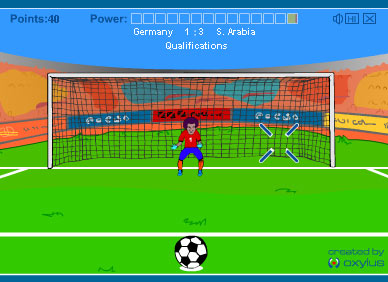 Fussball Onlinespiel - Flash Game