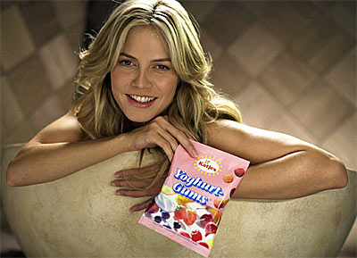 Heidi Klum - Werbung Katjes
